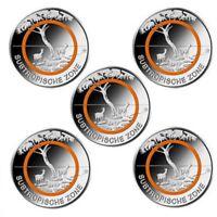 5 x 5 Euro Deutschland 2018 - Subtropische Zone Komplettsatz ADFGJ st