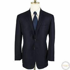 Luciano Barbera Sartoriale Collezione Blue Wool Silk Suede Leather Jacket 42L