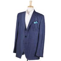 NWT $2795 ERMENEGILDO ZEGNA Blue Lightweight Wool-Linen-Silk Sport Coat 46 R