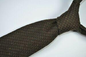 SEIGO NEW YORK SHORT Tie MADE IN JAPAN 100% Silk Brown Color L51 W3