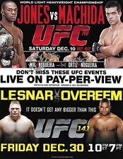 Frank Mir & Antonio Rodrigo & Rogerio Nogueira Signed UFC 140 8.5x11 Poster