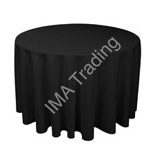 BLACK ROUND TABLE CLOTH 305cm, 120 Inch,  220GSM SPUN POLYESTER TABLE CLOTH