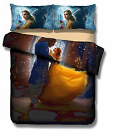 Disney Beauty and the Beast Printing Quilt/Duvet Cover and Pillow Case Set