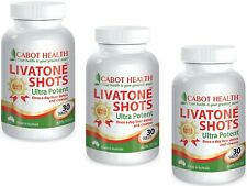 3 x 30 tablets CABOT HEALTH One-A-Day LIVATONE SHOTS Sandra Cleanse Detox