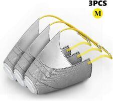 3 Pcs Pet Protective Muzzle Air Mesh Breathable and Drinkable Pet Muzzles M Size