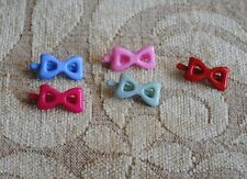 20  pcs plastic  colorful bow hair clips size  2.00 cm.