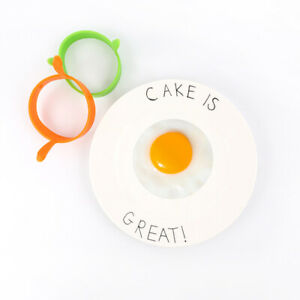 2PCS Silicone Egg Fried Ring Round Mold Pancake Breakfast Cooking Tool Kitchen