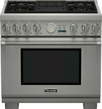 """New listing Thermador 36"""" Dual Fuel Professional Range with 4 Burners & Grill-Brand New!"""