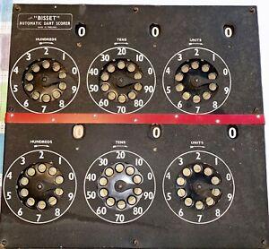 Bisset vintage AutoMatic Dart Scorer Board. Made in England. HARD TO FIND!