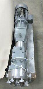 Waukesha Cherry-Burrell Positive Displacement Pump Inverter Duty Model 060, used