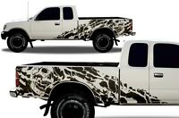 Vinyl Decal Wrap Kit fits 95-04 Toyota Tacoma Extended Cab Truck Nightmare BLACK
