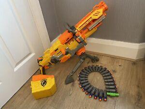 NERF N-STRIKE ELITE HAVOC FIRE VULCAN GUN TOY TRIPOD AMMO BELT BOX & DARTS