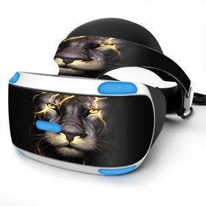 Skin Wrap for Sony Playstation PSVR Headset lion gold lightening fierce