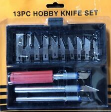 13pcs hobby Wood Carving Hand Chisels, DIY Craft Knife Set Woodworking Tools