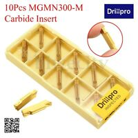 Drillpro 10X MGMN300-M Carbide Insert 3mm For MGEHR/MGIVR Grooving Cut-Off Tool