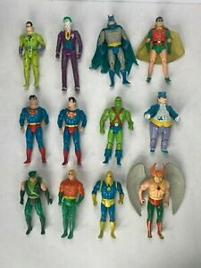 DC Super Powers 1984 Kenner figure lot of 12 Batman Robin Superman x2 many more!