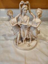 "Vintage Engraved Greek Three Grace's Sculpture 9.5"" Tall"