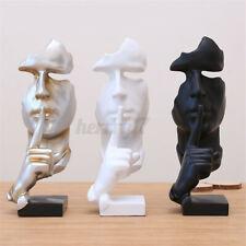 Modern Abstract Face Resin Figure Statue Craft Sculpture Art Office Home ~