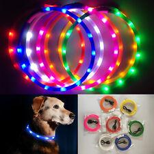 Collar LED Brillante Para Mascotas Collares USB Recargable Seguridad Nocturna