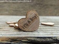 "100 qty 1"" It's A Boy! Wood Hearts Table Confetti Wooden Wedding Decor"