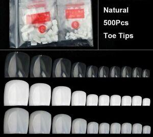 500Pcs Artificial False Toe Nails Tip For Nail Art Decoration Foot Manicure Tool
