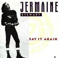 """STEWARD, Jermaine  (Say It Again)  Arista 1-9636 + """"VG"""" picture sleeve"""