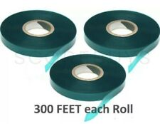 3 Rolls - 300 Feet X 1/2� Plant Tie Tape Stretch Green Garden Stake Vinyl