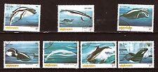 VIETNAM  Série oblitérés #1569-1575 Les cétacés,baleines ,orques 97M-232T5