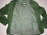 Coldwater Creek Womens Green Spring Blazer Jacket Coat Buttons Pockets Size 16