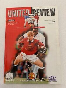 Manchester United V Derby County 21/02/1998