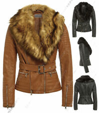 Faux Fur Outdoor Biker Jackets for Women