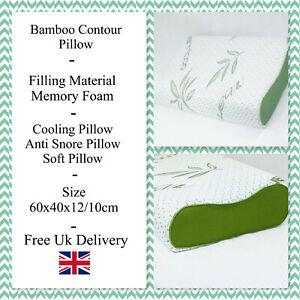 Bamboo memory foam contour pillow,Back Neck Head Suport coling Orthopedic Pillow