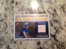 2005 Topps Title Threads Jimmy Key GU Jersey Toronto Blue Jays Pristine Legends