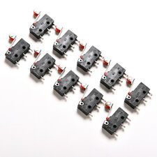 10pcs mini micro switch + rodillo fin de carrera de acción Snap 3 pines 5A^vH4