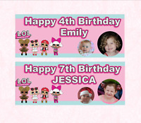 Personalised Birthday Party Banner LOL Surprise Dolls L.O.L.