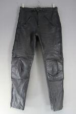 BEE CLOTHING COMPANY BLACK LEATHER BIKER TROUSERS: WAIST 34 IN/INSIDE LEG 31 IN