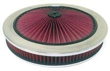 "4/""x2-7//8/"" Dish Chrome Air Cleaner Filter Street Hot Rod Chevy Ford Mopar SBC BBC"