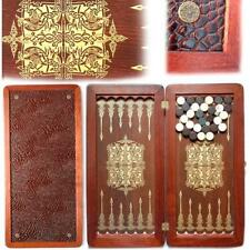 Large Luxury Orion Wooden Backgammon Set Leather Pieces Tournament Board Game