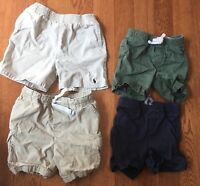 Lot 4 Pairs 24M Shorts Boy Polo Rallh Lauren Old Navy Carter's Blue Green Khaki
