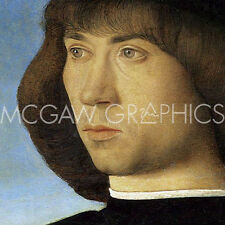 "BELLINI GIOVANNI-PORTRAIT OF A YOUNG MAN(detail)-ART PRINT POSTER12""X12""  (2727)"