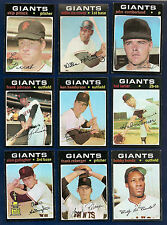 1971 Topps Lot of 35 Giants (17) #50 295 563 621 691 A's (18) #285 384 440 714 +