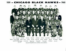 1959 1960 CHICAGO BLACK HAWKS 8X10 TEAM PHOTO HOCKEY NHL HOF ILLINOIS PUCK