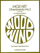 Mozart Divertimento No.2 K.439b Learn to Play Clarinet Piano Sheet Music Book