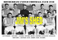 ROTHERHAM UNITED F.C.TEAM PRINT 1948 ( ARDRON / GUEST / SHAW / GRAINGER )