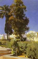 Oil painting Alcazar Gardens (Sevilla) - jardines del alcazar (sevilla) canvas