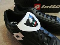 Lotto Classe HG-R Soccer Cleat Shoes F7187 Black White Vintage NEW NOS!