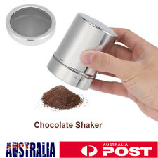 AU Stainless Steel Chocolate Cocoa Shaker Cappuccino Coffee Sifter Sprinkler Hot