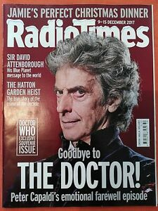 Radio Times Doctor Who Peter Capaldi 9-15 December 2017