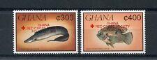 Ghana 1993 estampillada sin montar o nunca montada Peces Cruz Roja ovpt 2v Set Medical Salud Sellos De Peces