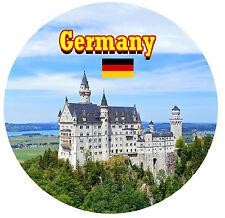 GERMANY - SIGHTS / FLAG - ROUND NOVELTY SOUVENIR FRIDGE MAGNET - BRAND NEW